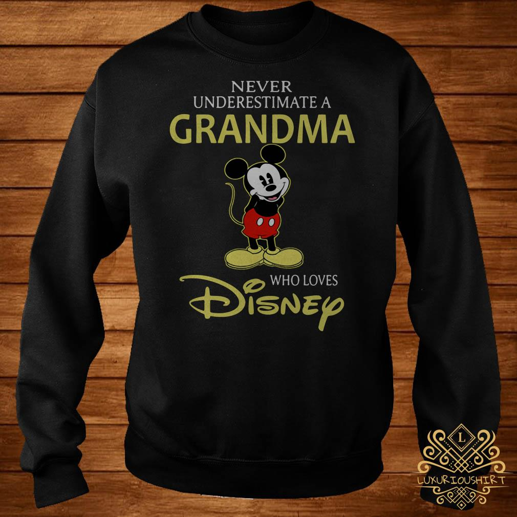 Mickey Mouse never underestimate a grandma who loves Disney sweater
