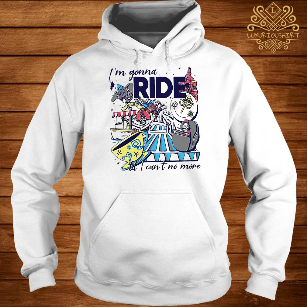 Theme Park Rider I'm gonna ride til i can't no more hoodie