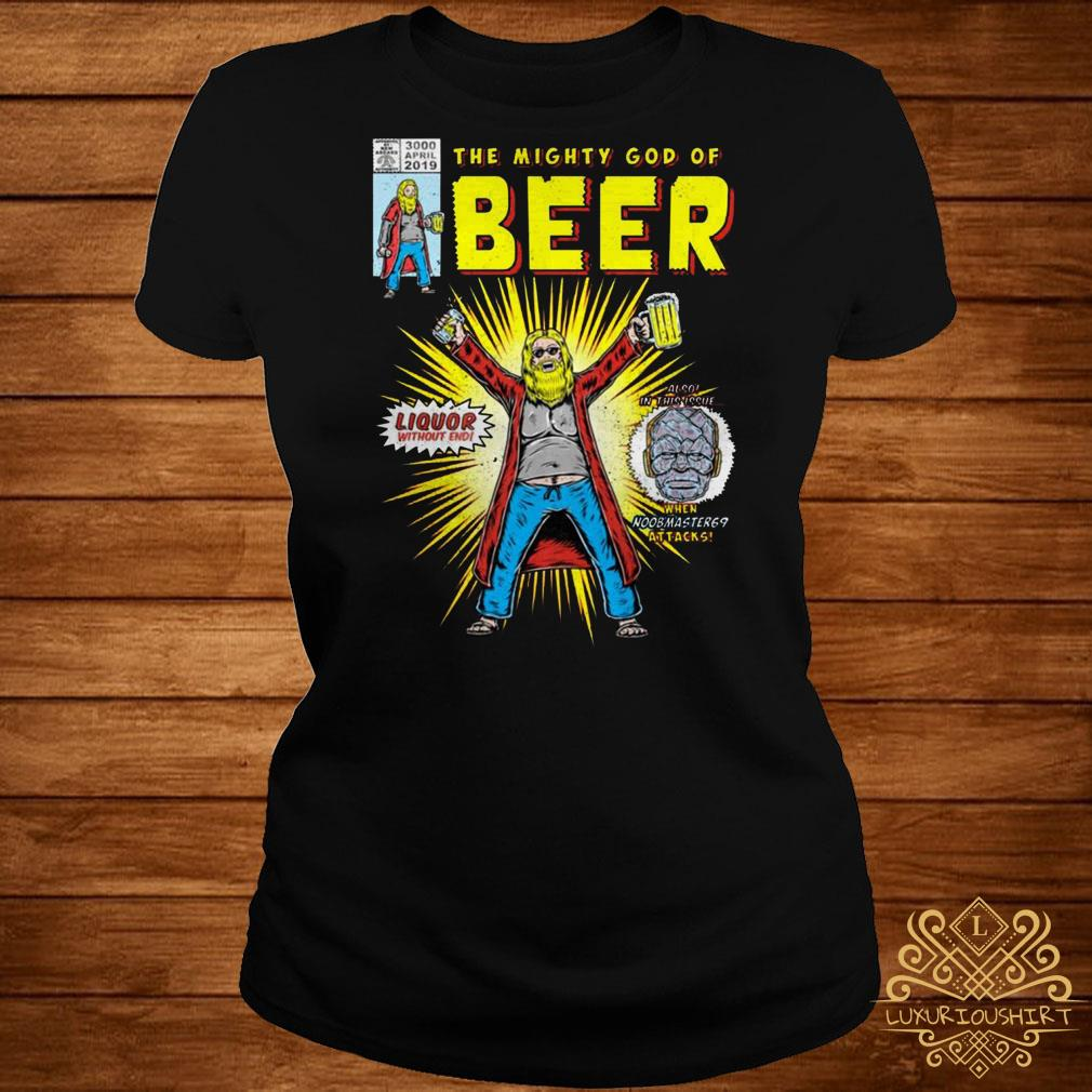 Thor the mighty god of beer ladies tee