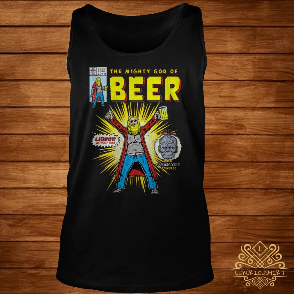 Thor the mighty god of beer tank-top