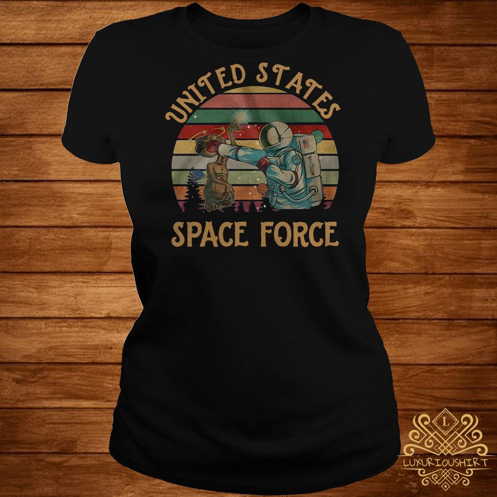 United States space force sunset ladies tee