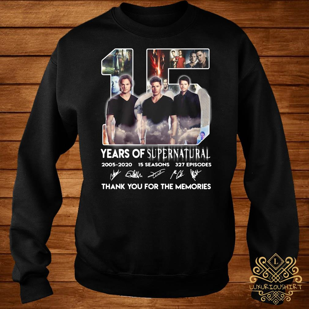 15 years of supernatural thank you for the memories sweater