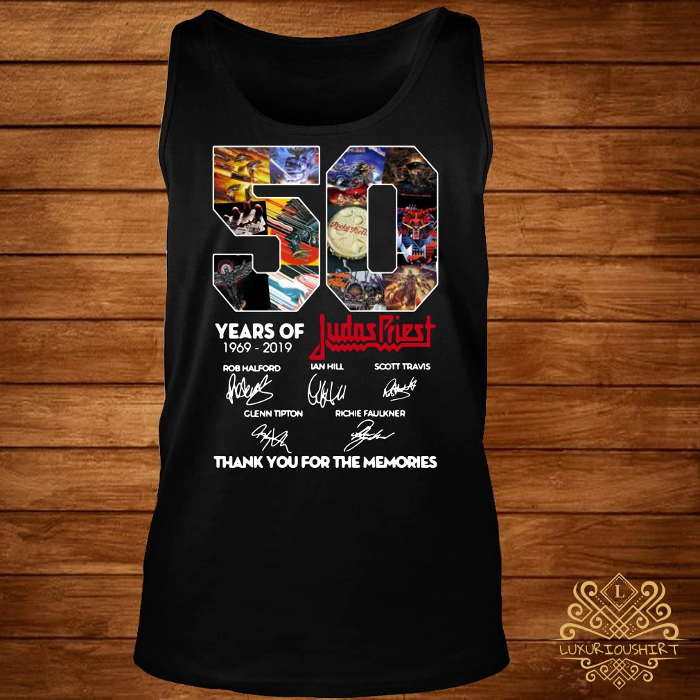 50 Years of Judas Priest 1969-2019 thank you for the memories signature tank-top