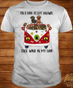 Dachshund on a dark desert highway cool wind in my shirt