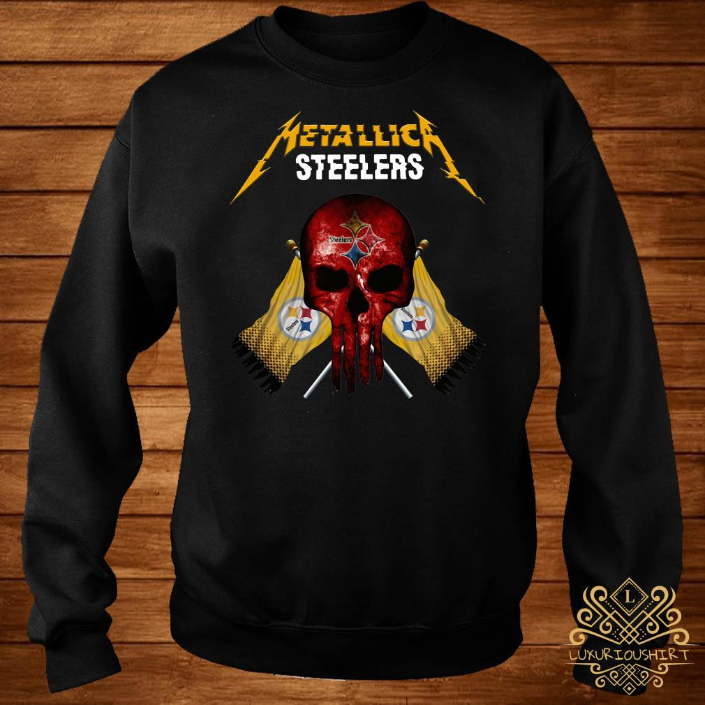 new styles 18959 7f0b4 Metallic Pittsburgh Steelers punisher shirt