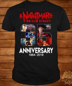 A nightmare on elm street 35th anniversary 1984 2019 shirt