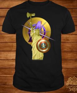 Paris Liberty Enlightening the world Avenger shirt