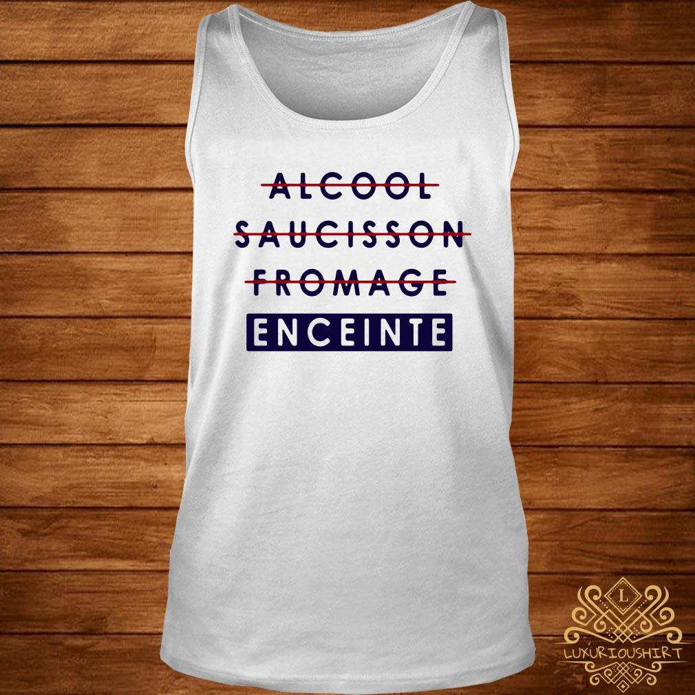 Alcool saucisson fromage enceinte tank-top