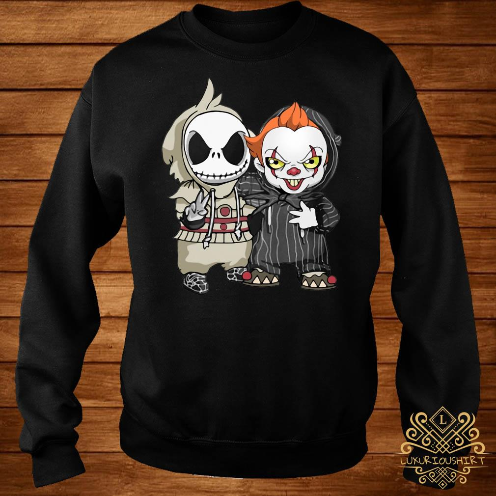 Baby Jack Skellington and baby Killer Clown sweater