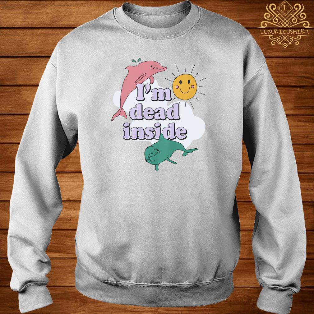 Dolphins I'm dead inside pastel sweater