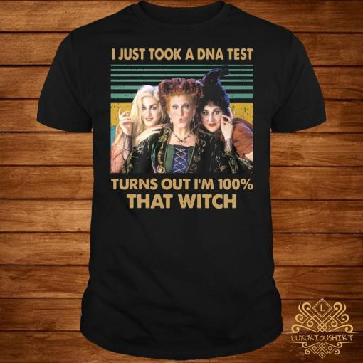 Hocus pocus I just took a DNA test turns out I'm 100% that witch vintage shirt
