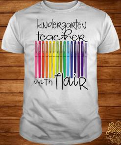 Kindergarten teacher with flair shirt