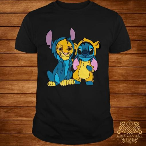 The Lion King Simba and Stitch Is Best Friend Shirt