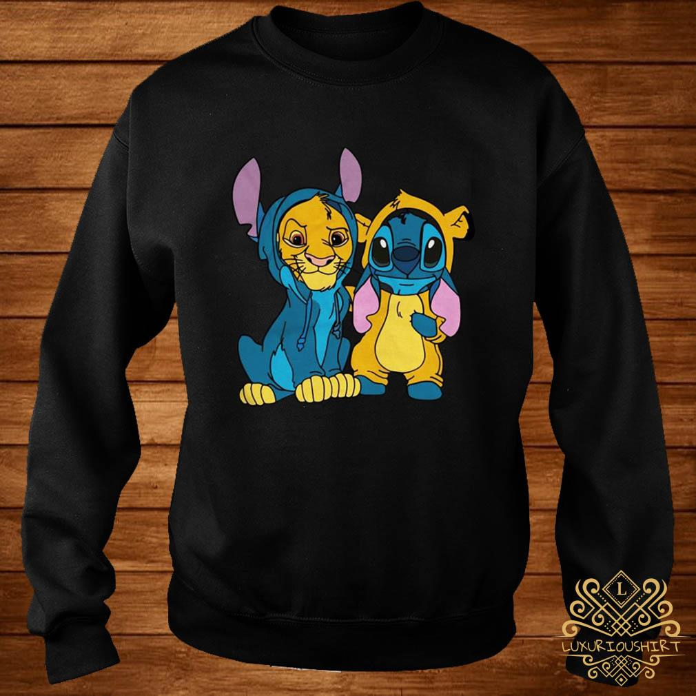 The Lion King Simba and Stitch Is Best Friend sweater
