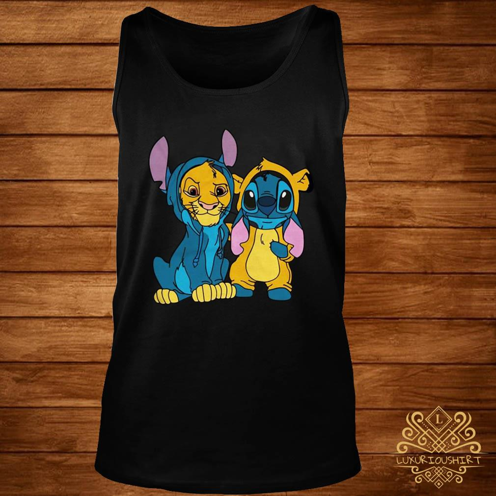 The Lion King Simba and Stitch Is Best Friend tank-top
