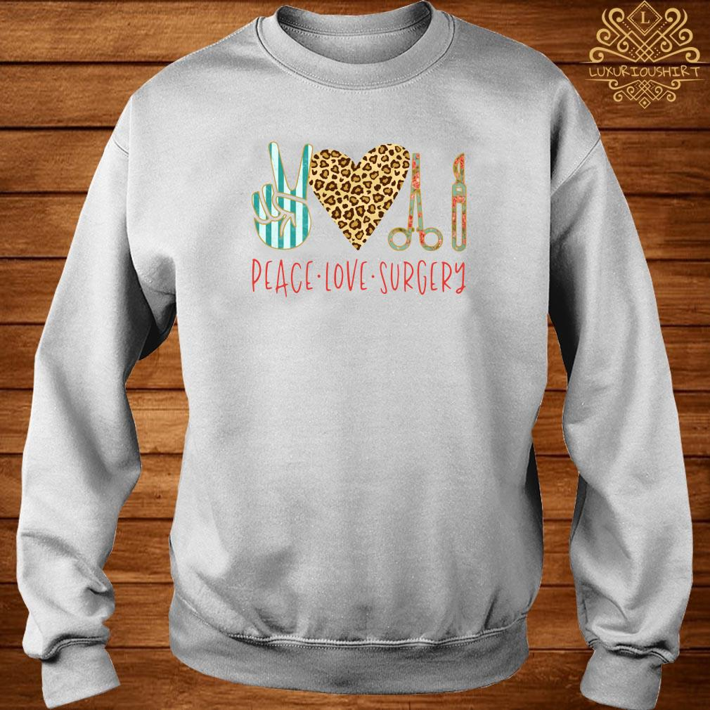 Peace love hair styling sweater