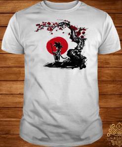 Son Goku Saiyan under the sun cherry blossom shirt
