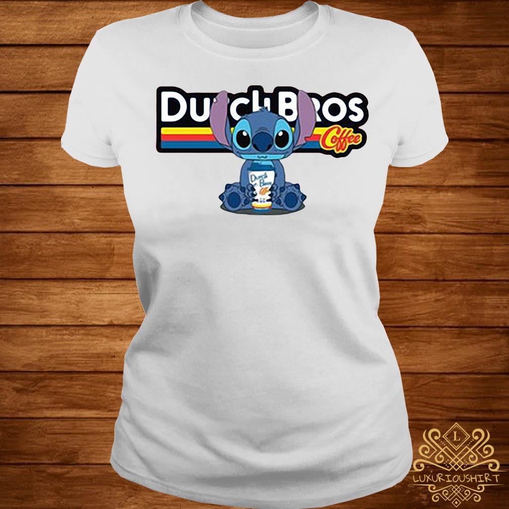 Stitch Dutch Bros coffee ladies tee