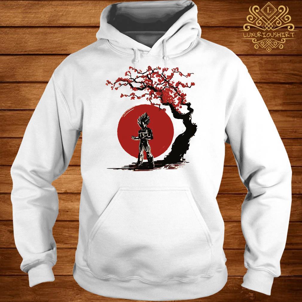 Vegeta cherry blossom hoodie