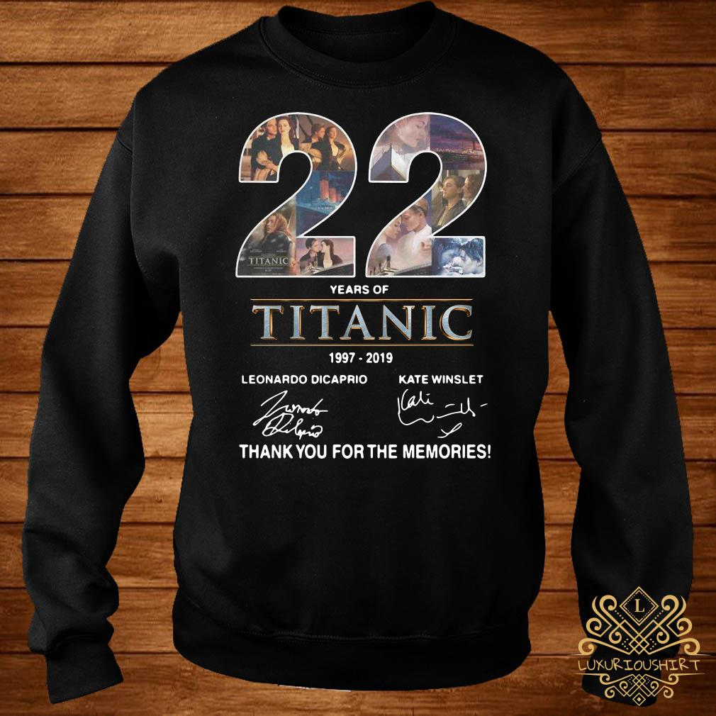 22 Years of Titanic 1997-2019 thank you for the memories sweater