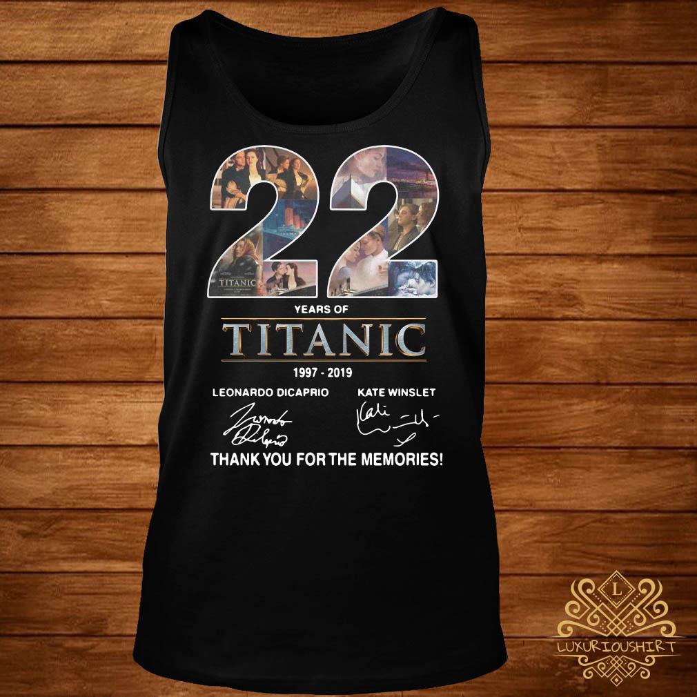 22 Years of Titanic 1997-2019 thank you for the memories tank-top