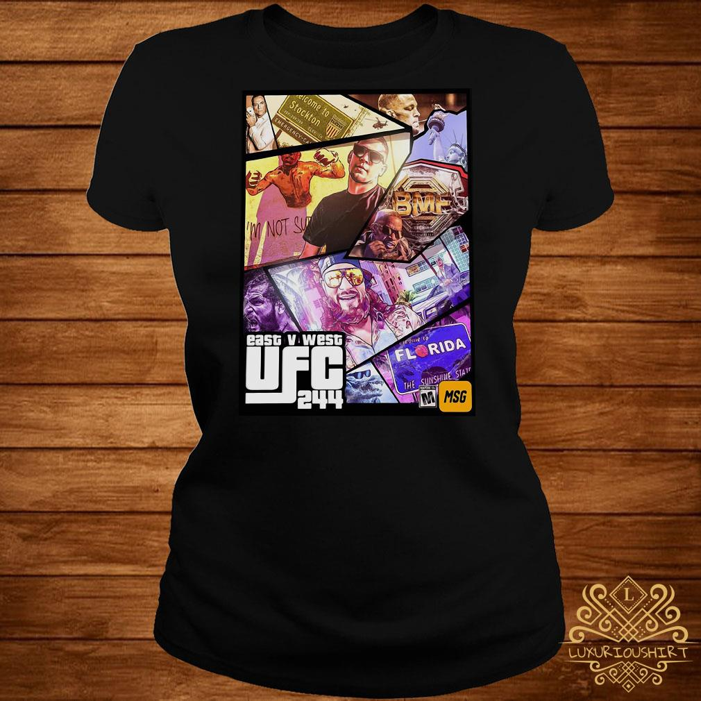 East And West UFC 244 Florida Nate Diaz And Jorge Masvidal Welterweights ladies tee