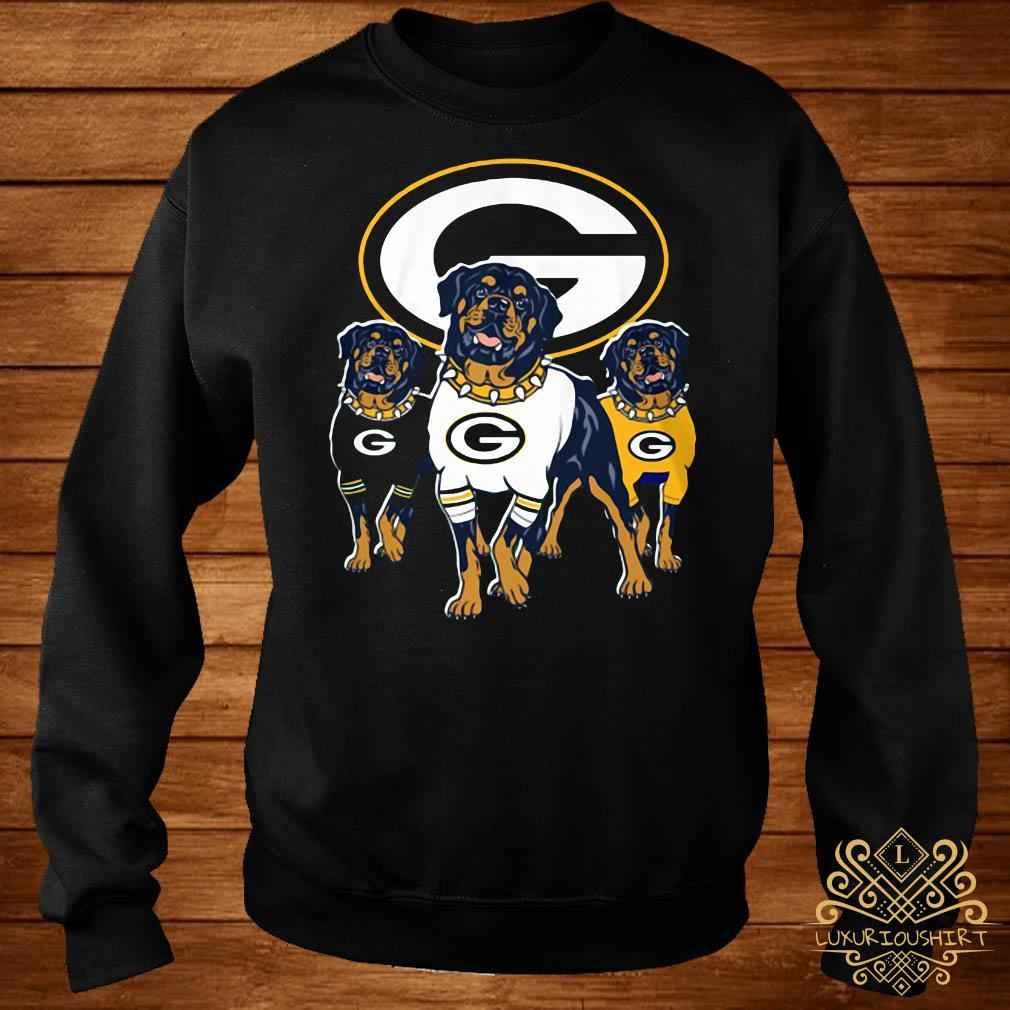 free shipping 6661c 706d2 Green Bay Packers Rottweiler dog shirt