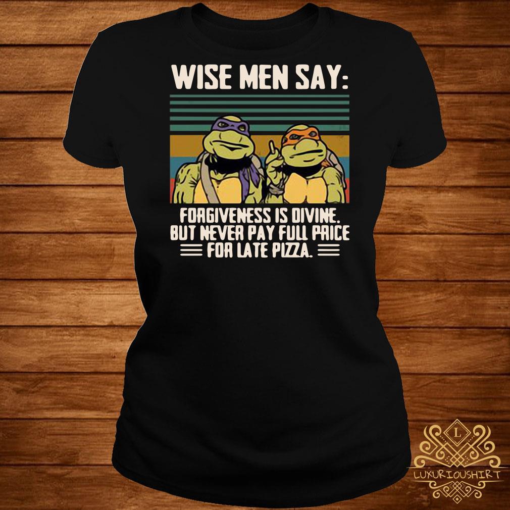 Ninja Turtles wise men say forgiveness is divine vintage ladies tee