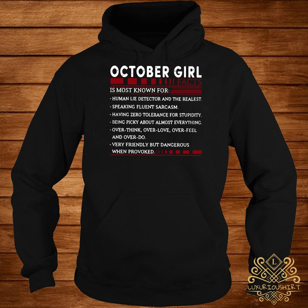 October Girl facts is most known for hoodie