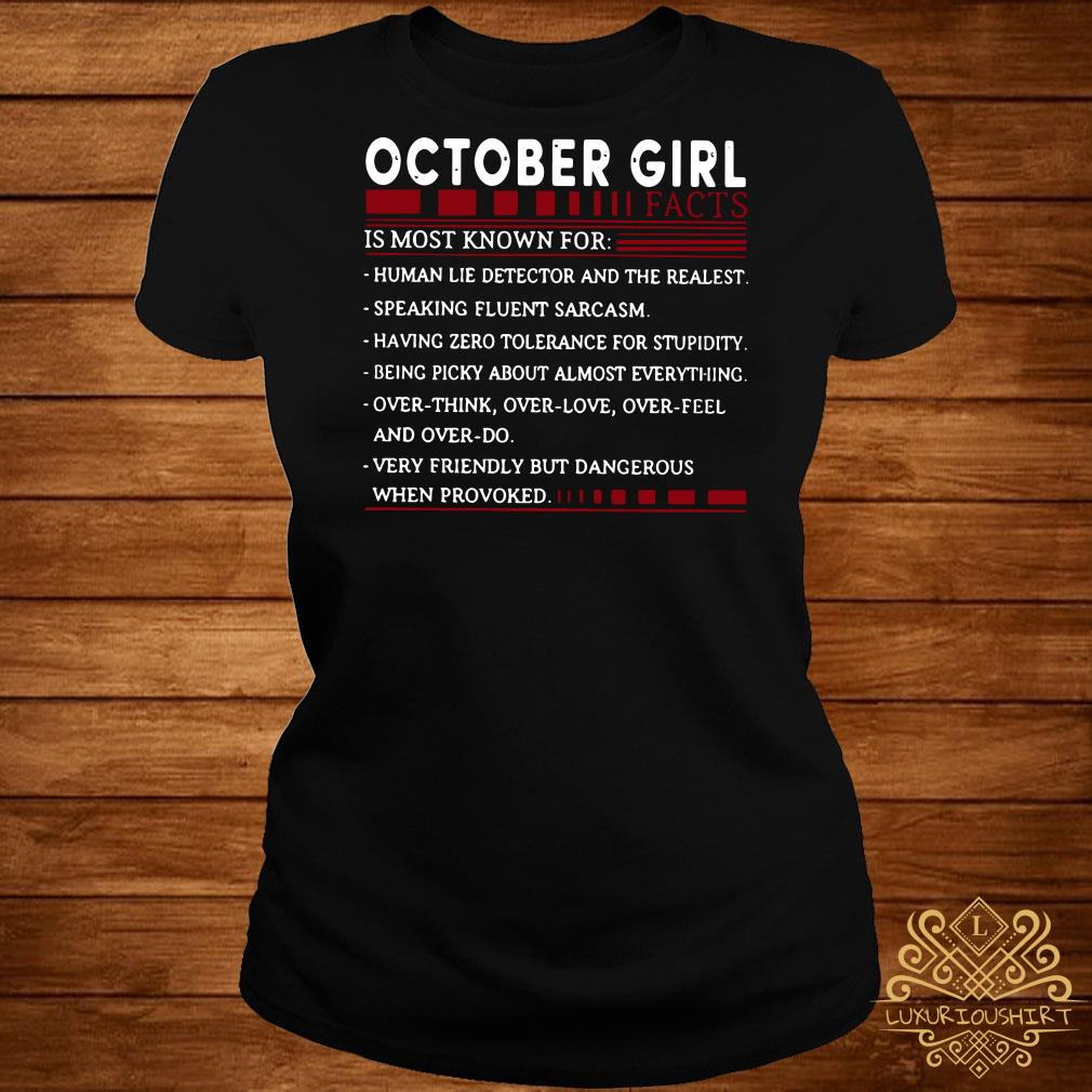 October Girl facts is most known for ladies tee