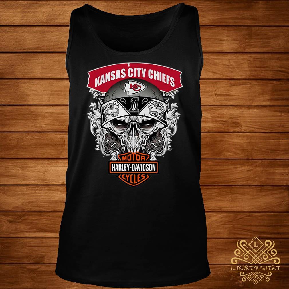 Skull Kansas City Chiefs Harley-Davidson motorcycles tank-top