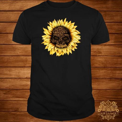 Skull Leopard sunflower shirt