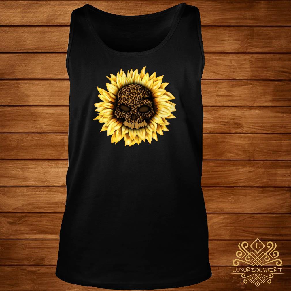 Skull Leopard sunflower tank-top