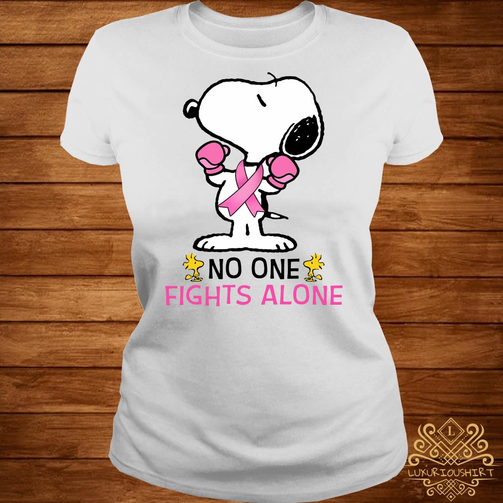 Snoopy no one fights alone ladies tee