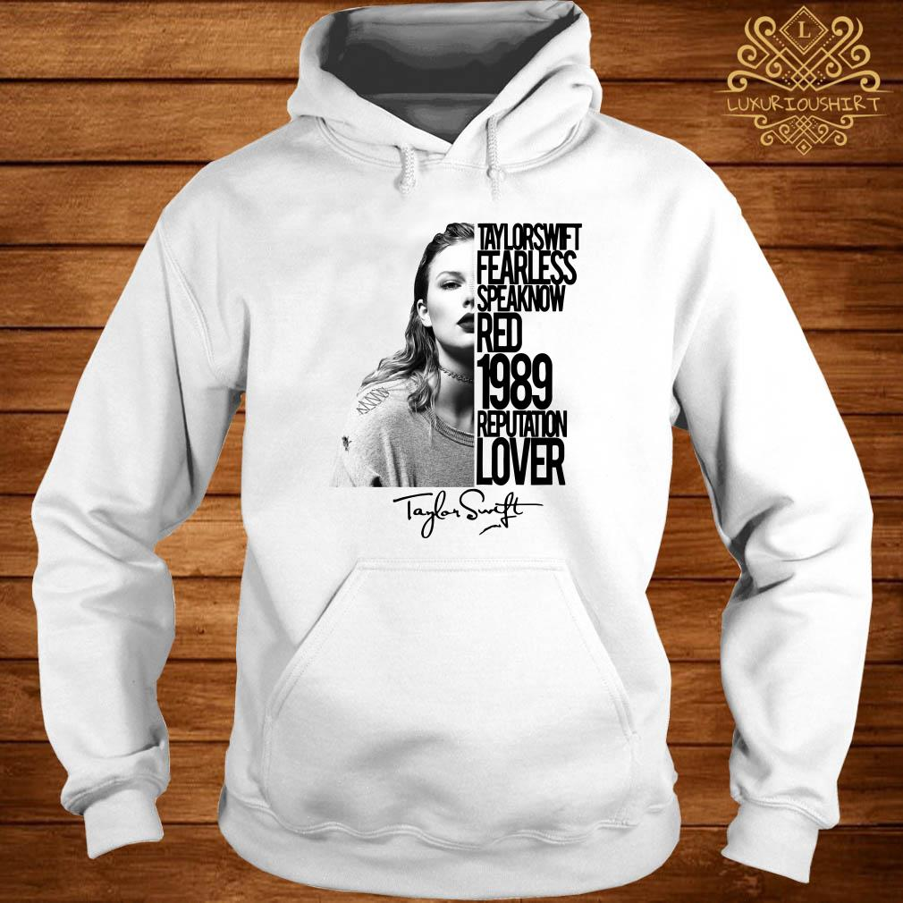 Taylor Swift Fearless speak now red 1989 reputation lover signature hoodie