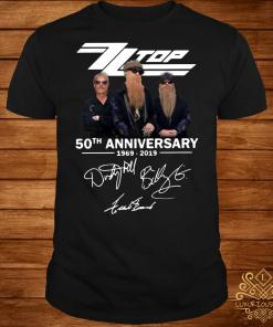 ZZ Top 50th anniversary 1969 2019 signature shirt