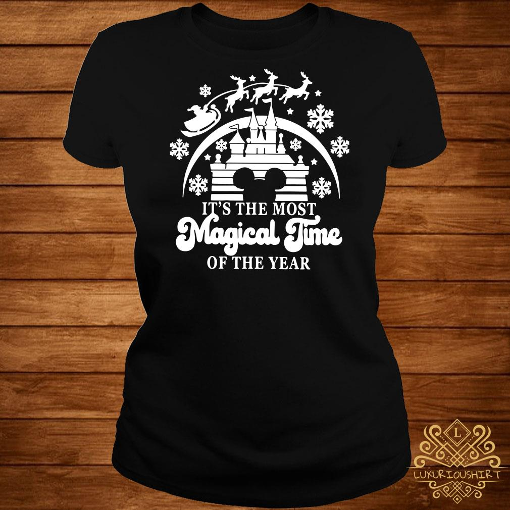 Disney Mickey Head It's The Most Magical Time Of The Year ladies tee