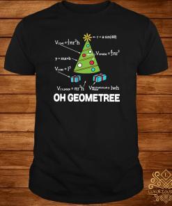 Math Geometry Christmas Tree Geometree Teacher Shirt