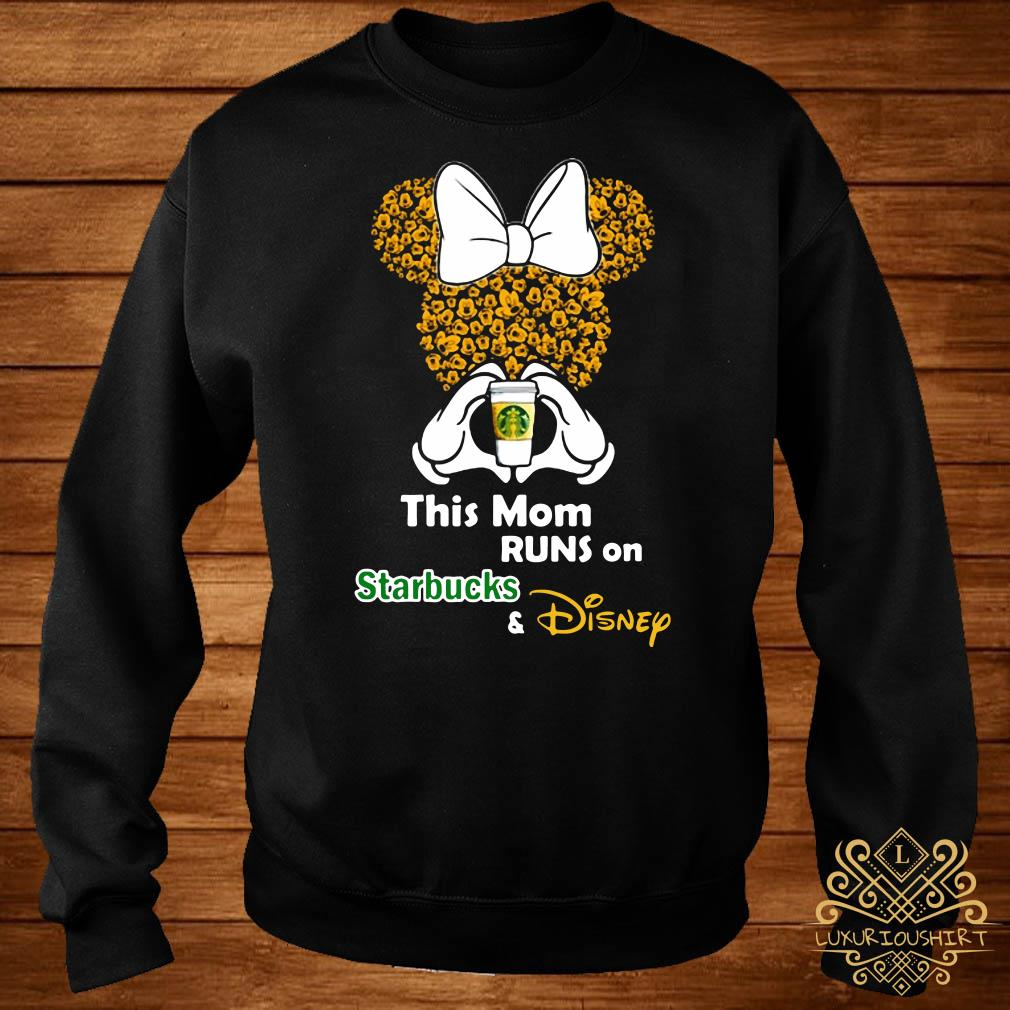 Minnie mouse this mom runs on Starbucks and Disney sweater