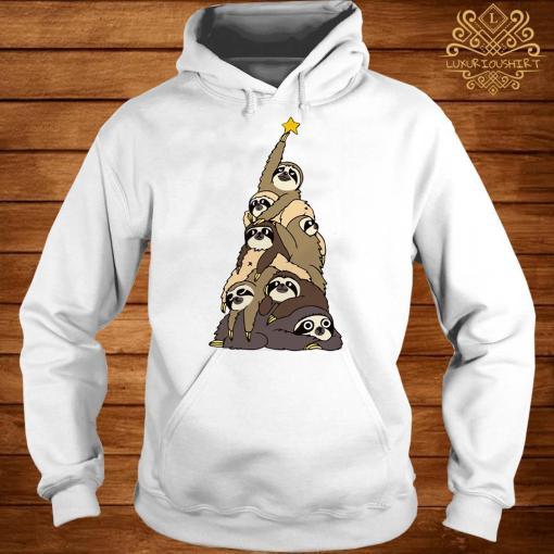 Sloth Christmas Tree Hoodie