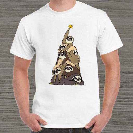 Sloth Christmas Tree Unisex