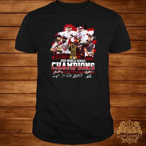 Washington Nationals 2019 World Series Champions Signatures Shirt
