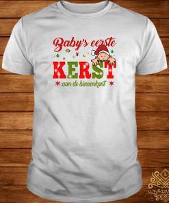 Baby's Eerste Kerst Aan De Binnenkant Christmas Shirt