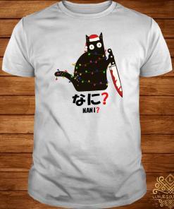 Black Cat Santa Knife Nani Christmas Shirt