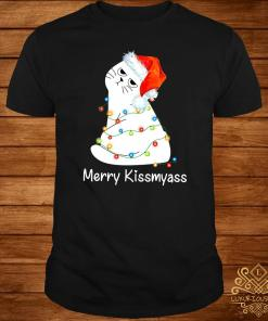 Cat Merry Kissmyass Christmas Shirt