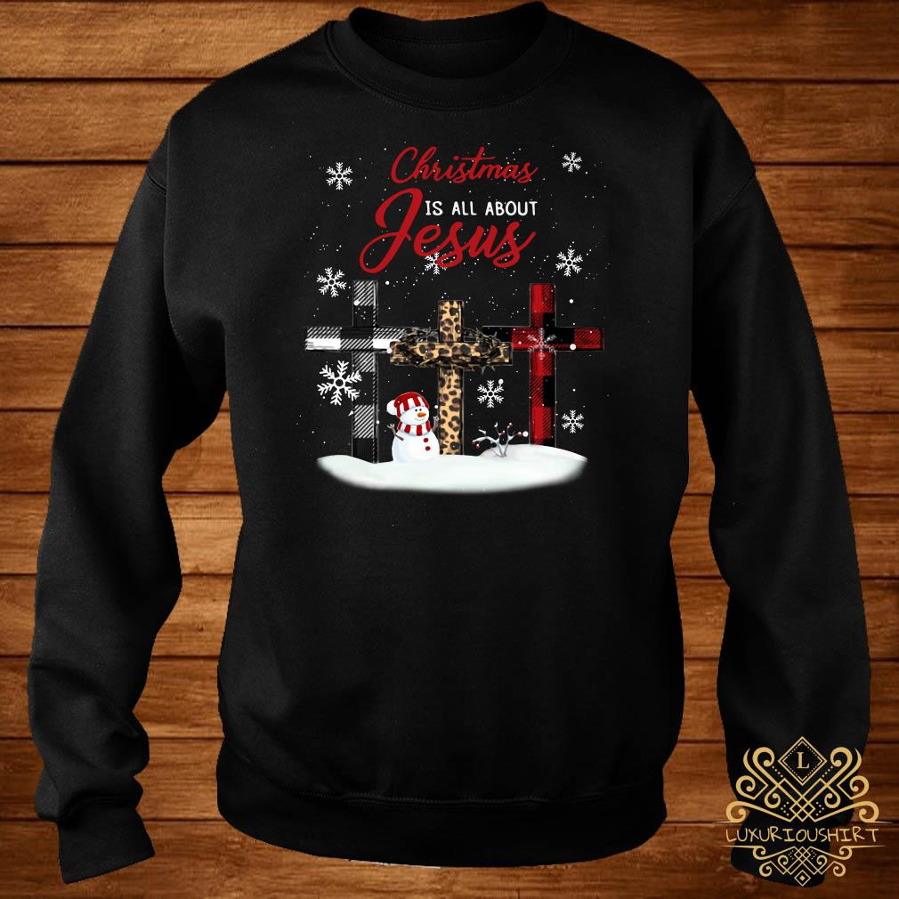 Cross Christmas Is All About Jesus Sweater