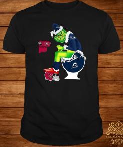 Grinch Seattle Seahawks San Francisco 49ers Los Angeles Rams Arizona Cardinals Toilet Shirt