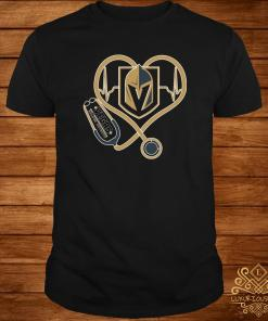 Heartbeat Nurse Love Vegas Golden Knights Shirt