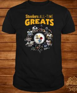 Pittsburgh Steelers All-Time Greats Players Signatures Shirt