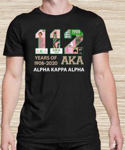 112 Years Of 1908-2020 Aka Alpha Kappa Alpha Unisex